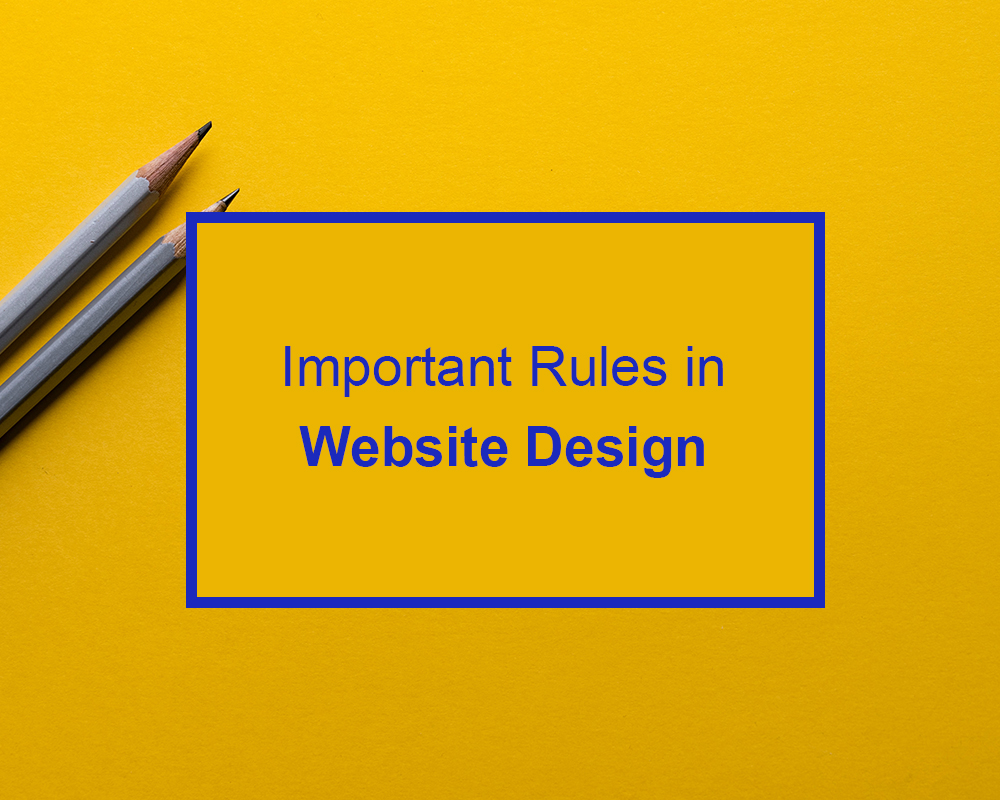 Important rules in website design